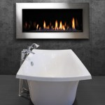 white tub and fire place
