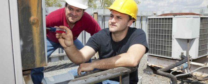 HVAC workers
