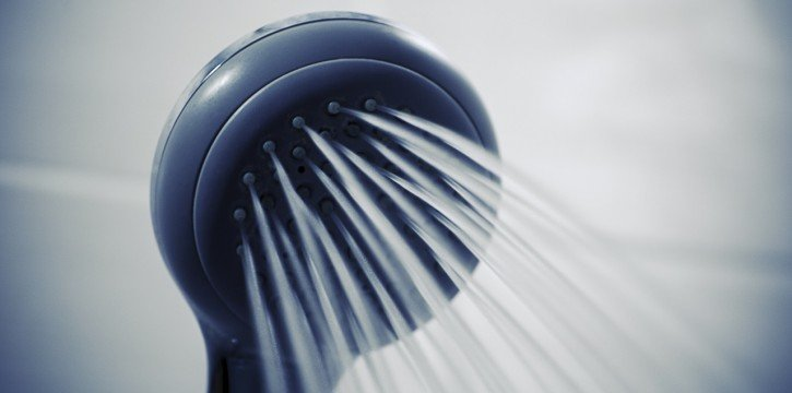 hot water from shower