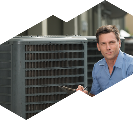 HVAC technician working on an air conditioner