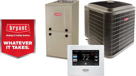 A Bryant furnace and heat pump